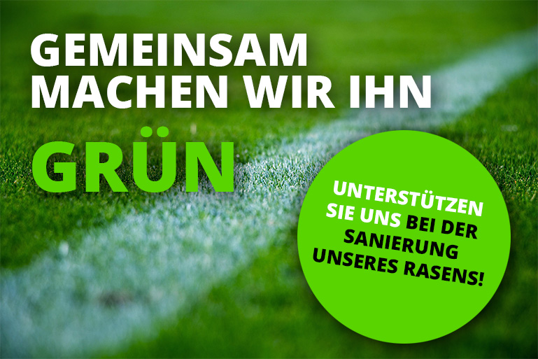 "Spendenaktion ""Neuer Rasen"""
